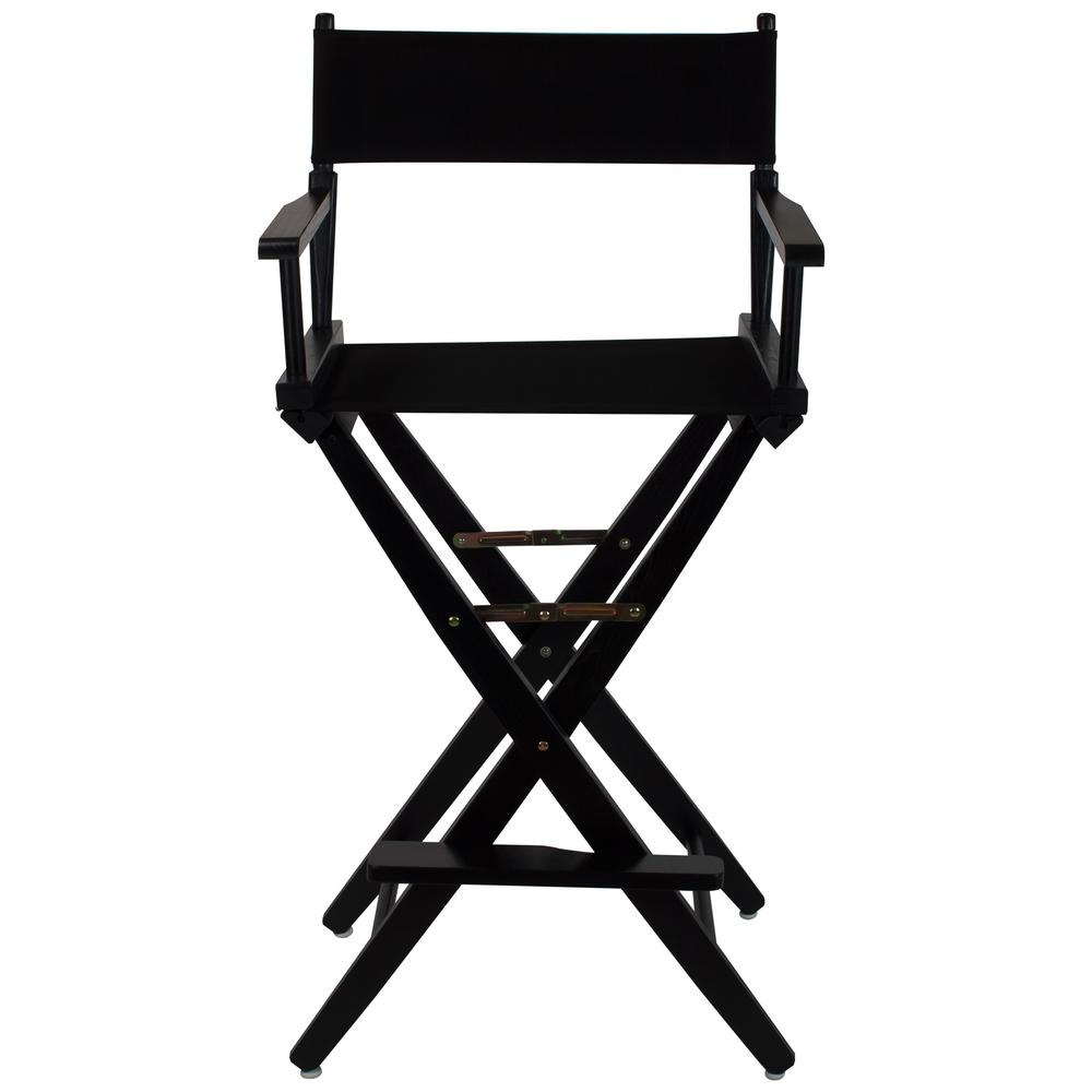 extra wide lawn chairs front porch rocking black american trails extra-wide frame/black canvas hardwood 30 in. directors chair-206 ...