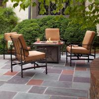 Hampton Bay Niles Park 5-Piece Gas Fire Pit Patio Seating ...