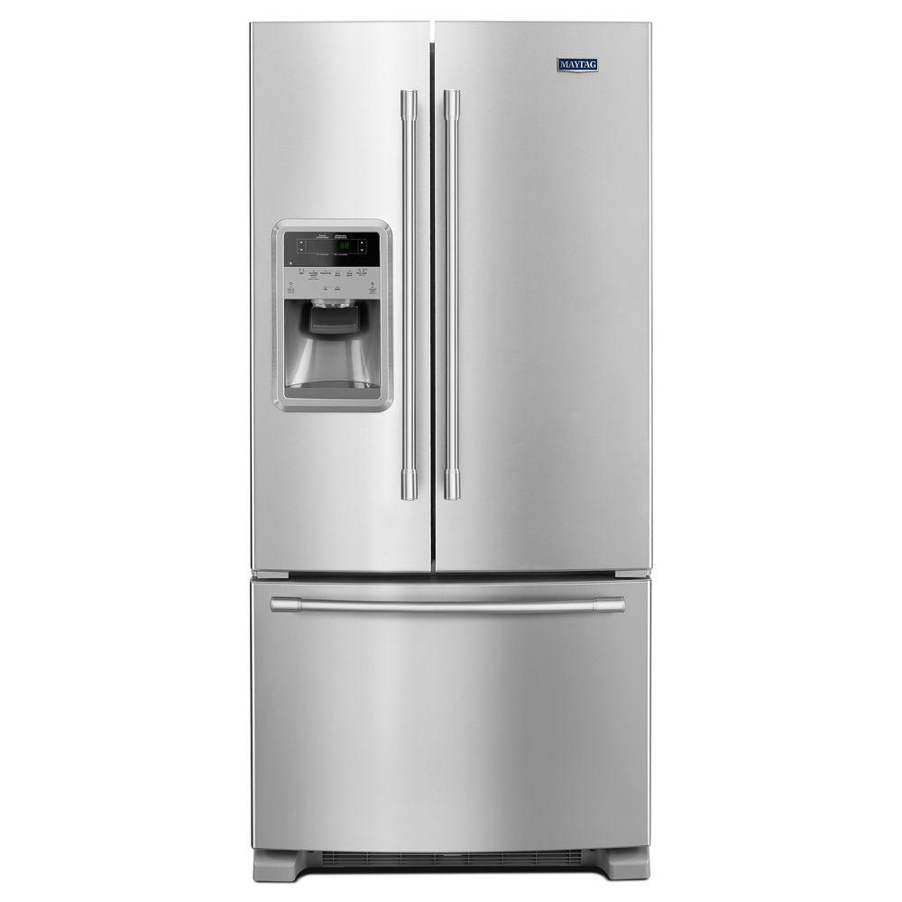 medium resolution of maytag 22 cu ft french door refrigerator in fingerprint resistant stainless steel