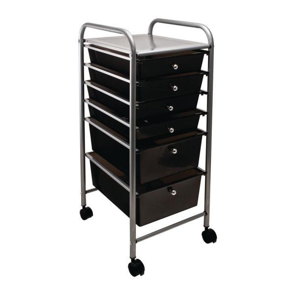 Advantus 6-drawer Metal File Organizer Cart In Smoke-34005 - Home Depot