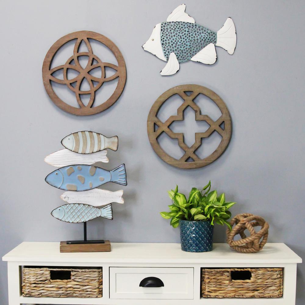 school of fish table top decor