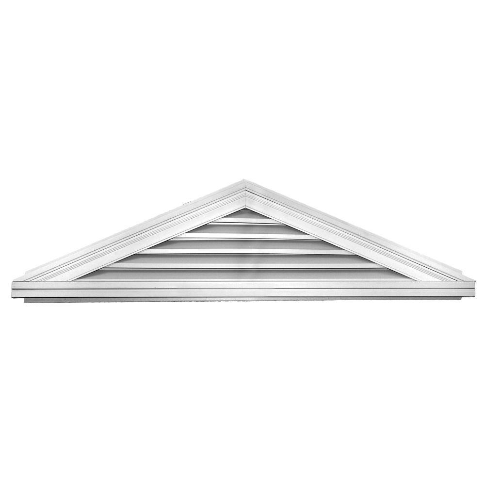 Builders Edge 5/12 Triangle Gable Vent #001 White