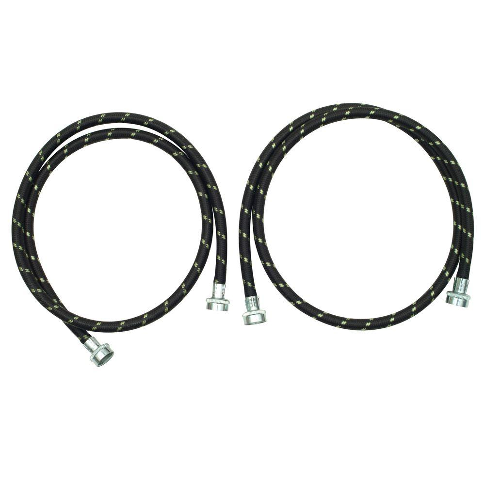 Whirlpool 5 ft. Nylon Braided Washer Fill Hose Kit (2-Pack