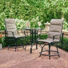 Bar Height Table And Chairs Outdoor Kneeling Chair Staples Canada Hampton Bay Dining Sets Furniture The Statesville Pewter 3 Piece Balcony Set