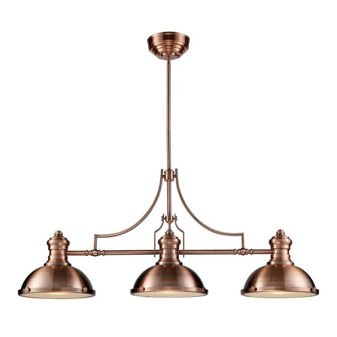 Chadwick 3 Light Antique Copper Ceiling Mount Island