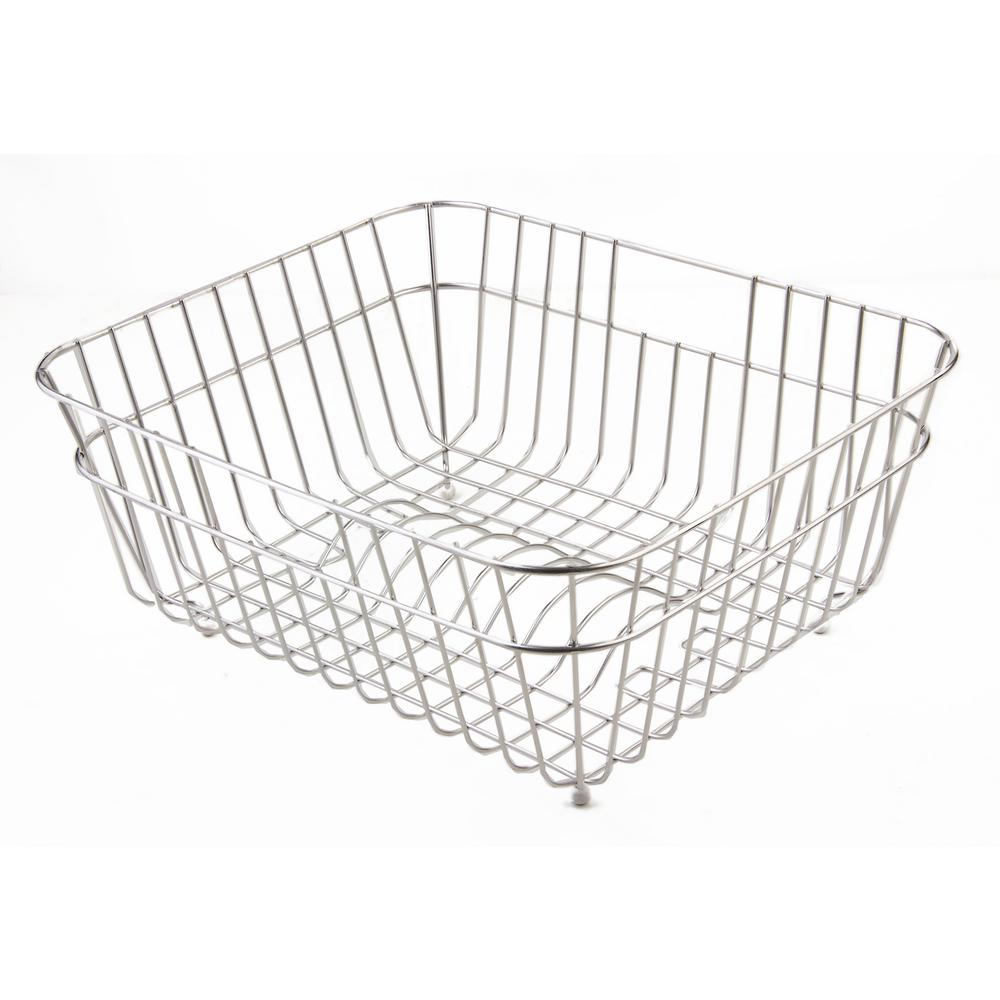 ALFI BRAND Basket for Kitchen Sinks in Stainless Steel
