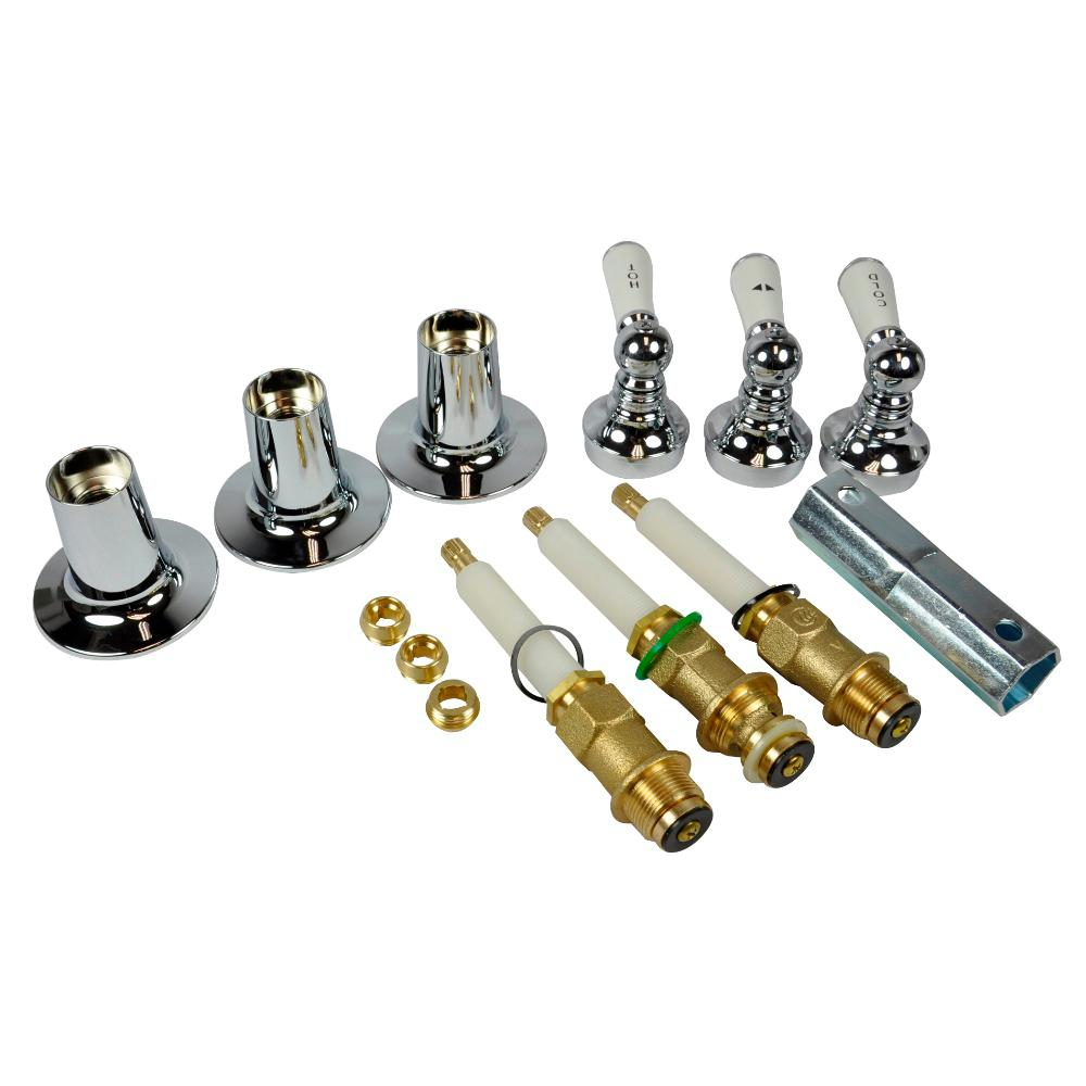 DANCO 3 Handle TubShower Trim Kit For Price Pfister In Chrome 39695 The Home Depot