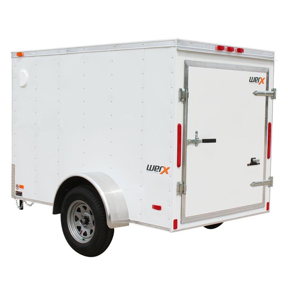 hight resolution of enclosed cargo trailer