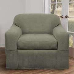 Gray Chair Slipcover Leg Pads Home Depot Stretch Fabric Slipcovers Living Room Furniture The Reeves 2 Piece Moss