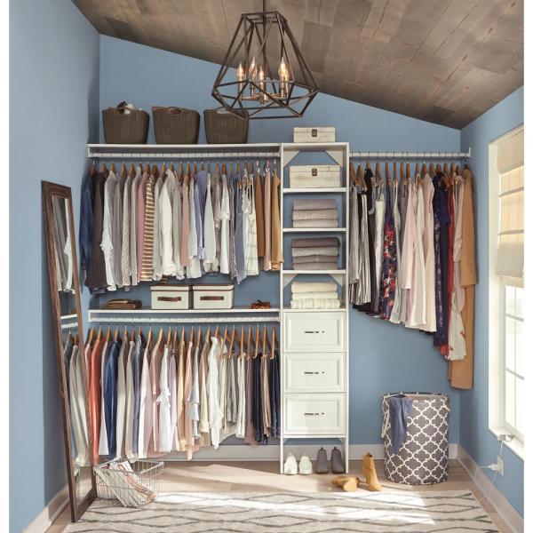 Closetmaid Selectives 82.46 In. X 108 14.57 8-pieces Basic- Closet System In