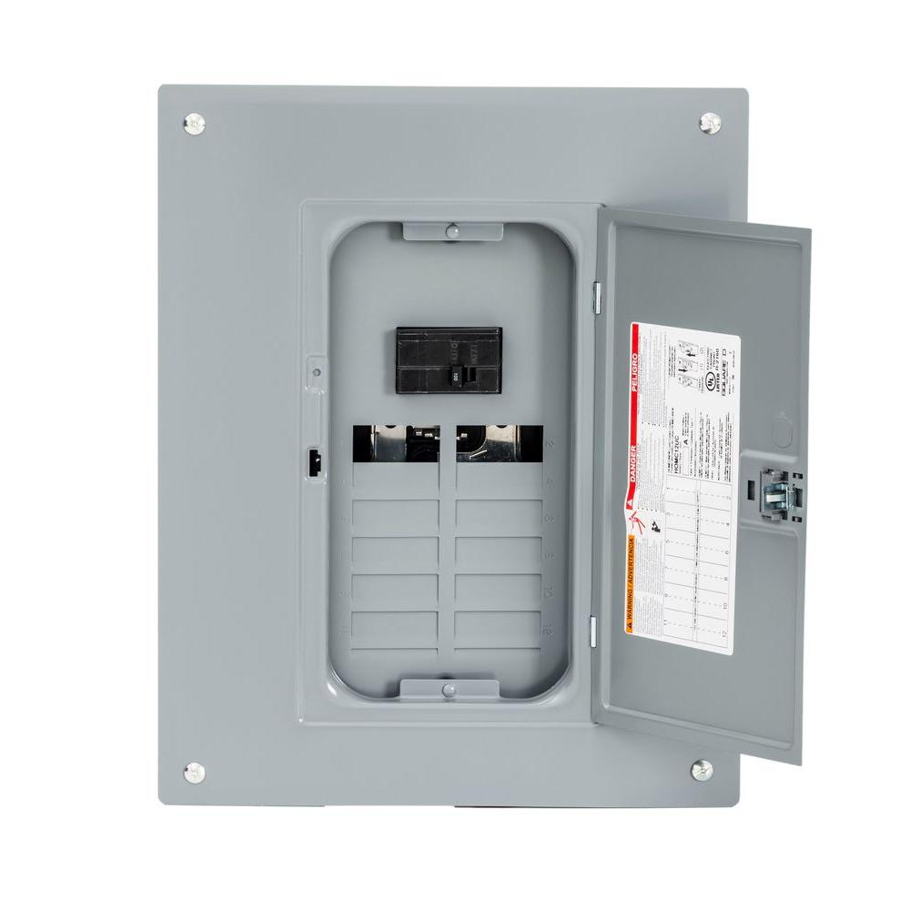hight resolution of square d homeline 100 amp 12 space 24 circuit indoor main breaker plug