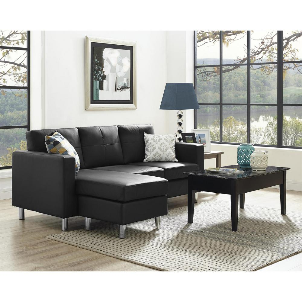 black sectional living room ideas small decorating with dorel spaces 2 piece configurable sofa fa4054 3 the home depot