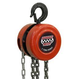 speedway 1 ton manual chain hoist [ 1000 x 1000 Pixel ]