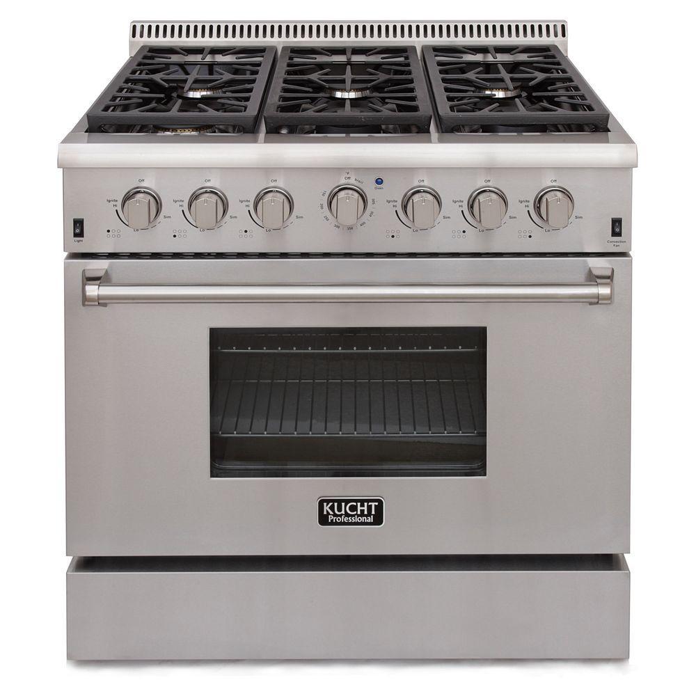 kitchen stove gas modern chimney kucht pro style 36 in 5 2 cu ft propane range stainless