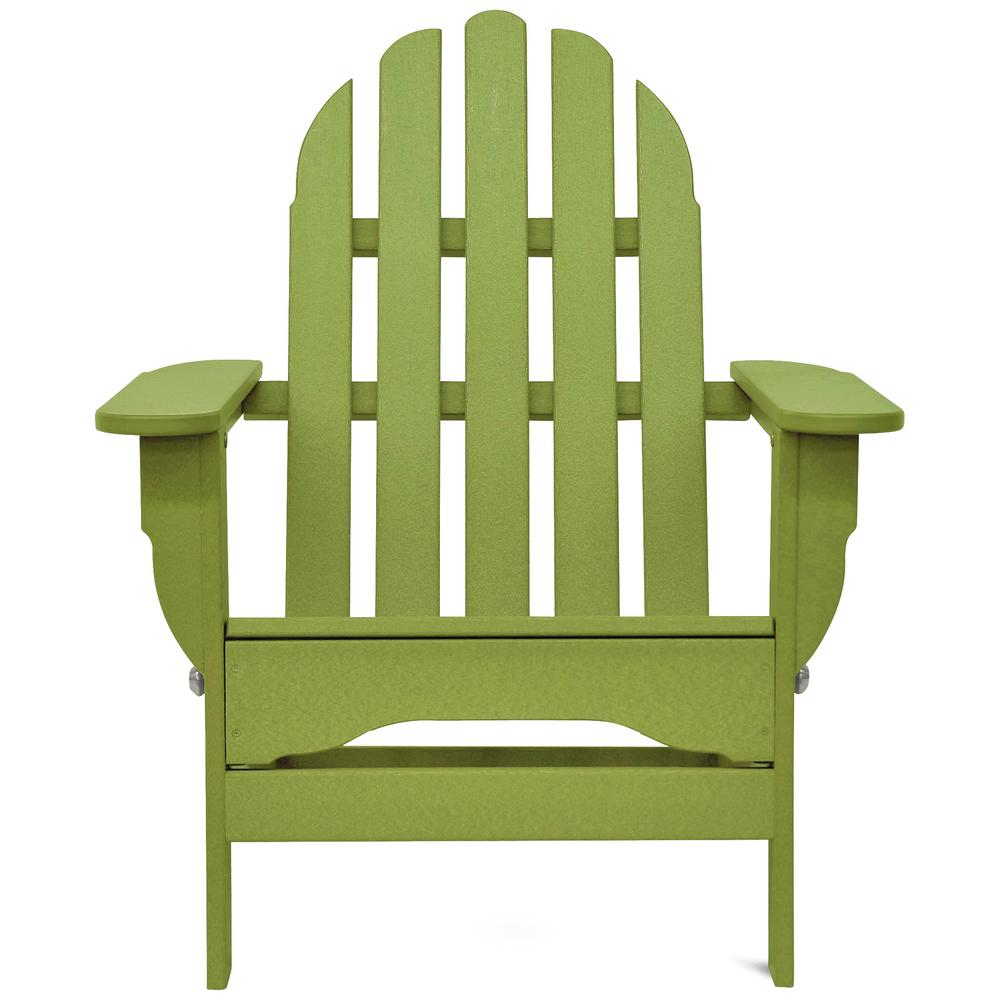 Lime Green Chairs Durogreen Icon Lime Green Plastic Folding Adirondack Chair