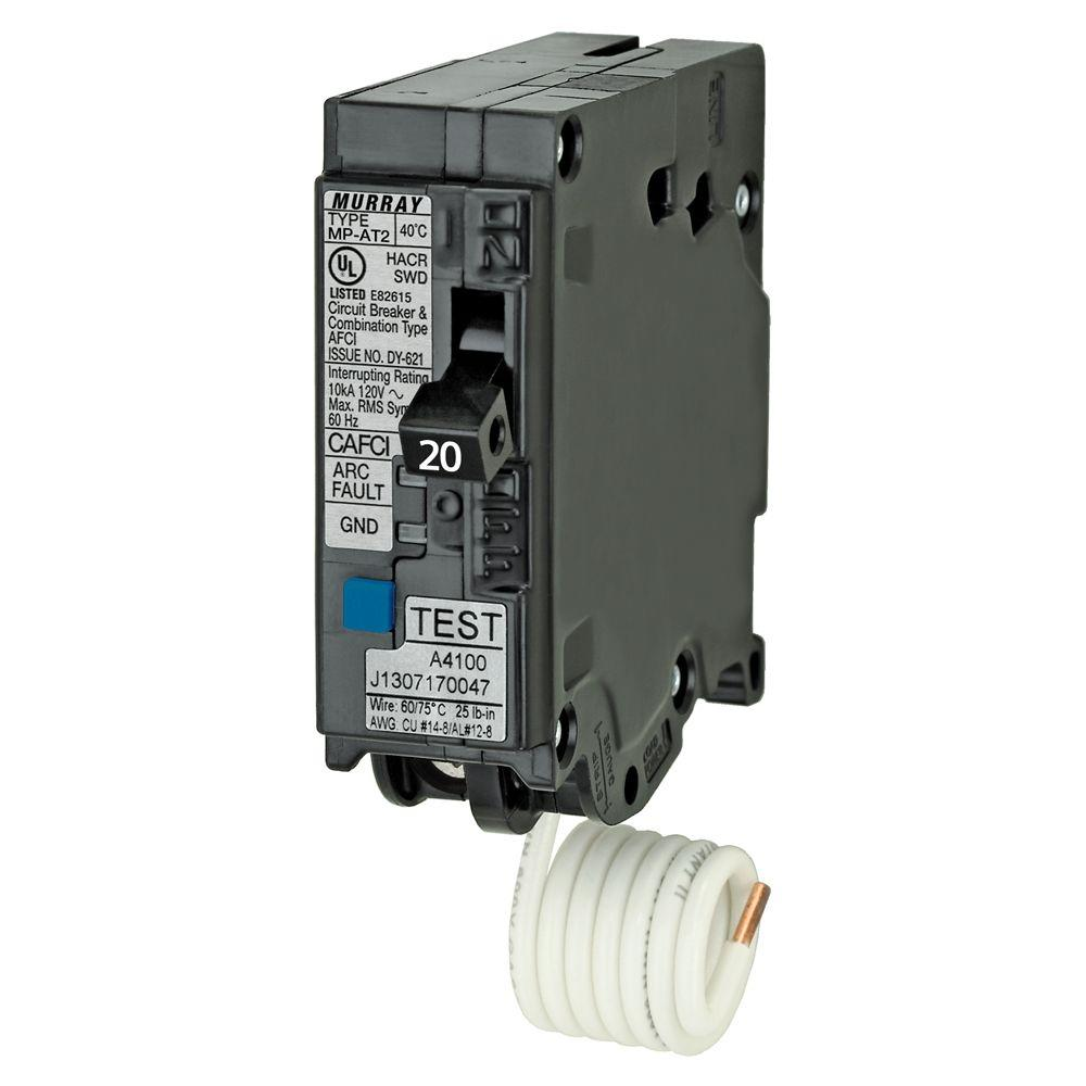 medium resolution of murray 20 amp 1 in single pole combination afci circuit breaker us2 afci circuit breaker wiring 20 amp afci breaker wiring diagrams