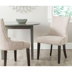 Safavieh Dining Chairs Butterflies And Bows Chair Covers Lester Grey Set Of 2 Mcr4709ag Set2 The
