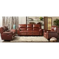 Cambridge Charleston Power Brown Double Reclining Leather ...