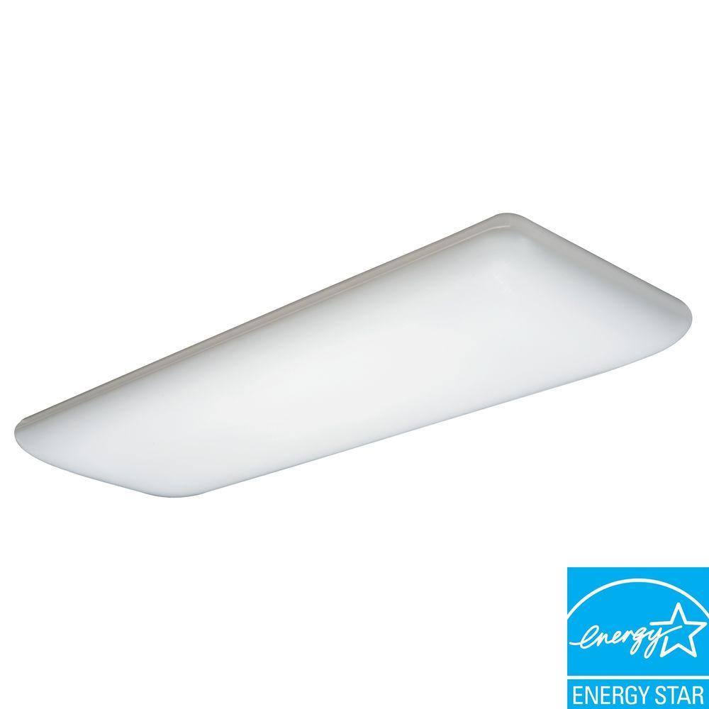 kitchen fluorescent light covers slate appliance package lithonia lighting 4 white ceiling 10642re