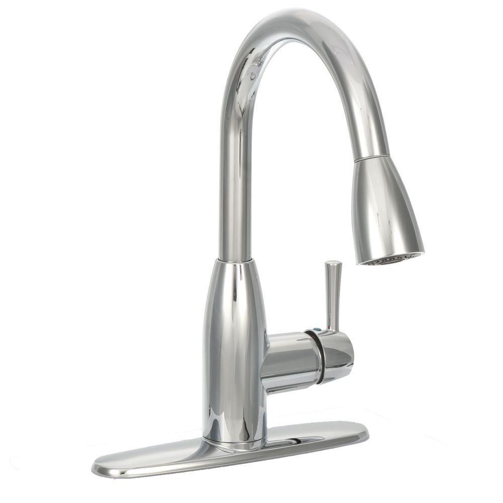 american standard kitchen faucet white corner cabinets for fairbury single handle pull down sprayer in chrome