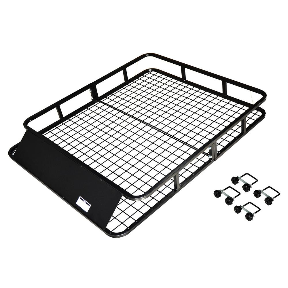Max Load 165 lb. Heavy-Duty Steel Roof Cargo Basket with