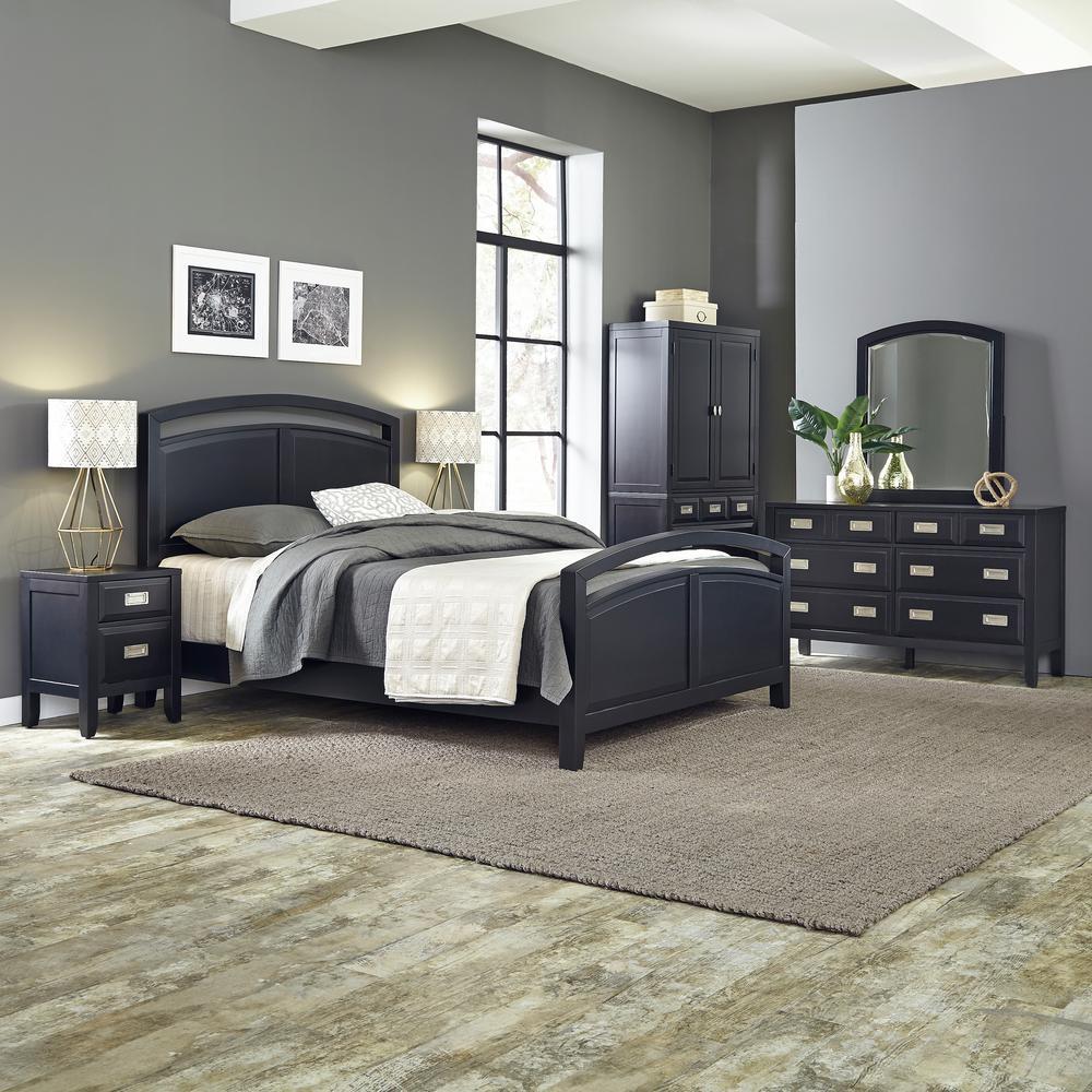 Home Styles Prescott 5Piece Black Queen Bedroom Set55145020  The Home Depot