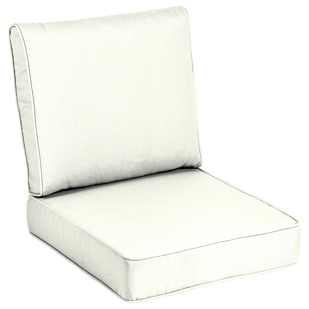 white lounge chair cushions camping chairs with sunshade home decorators collection 24 x sunbrella canvas outdoor cushion