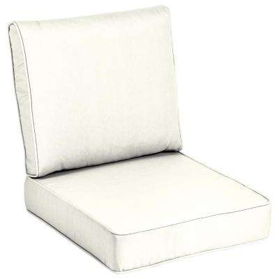 acrylic chairs with cushions bed bath and beyond folding solid white lounge chair outdoor 24 x sunbrella canvas cushion