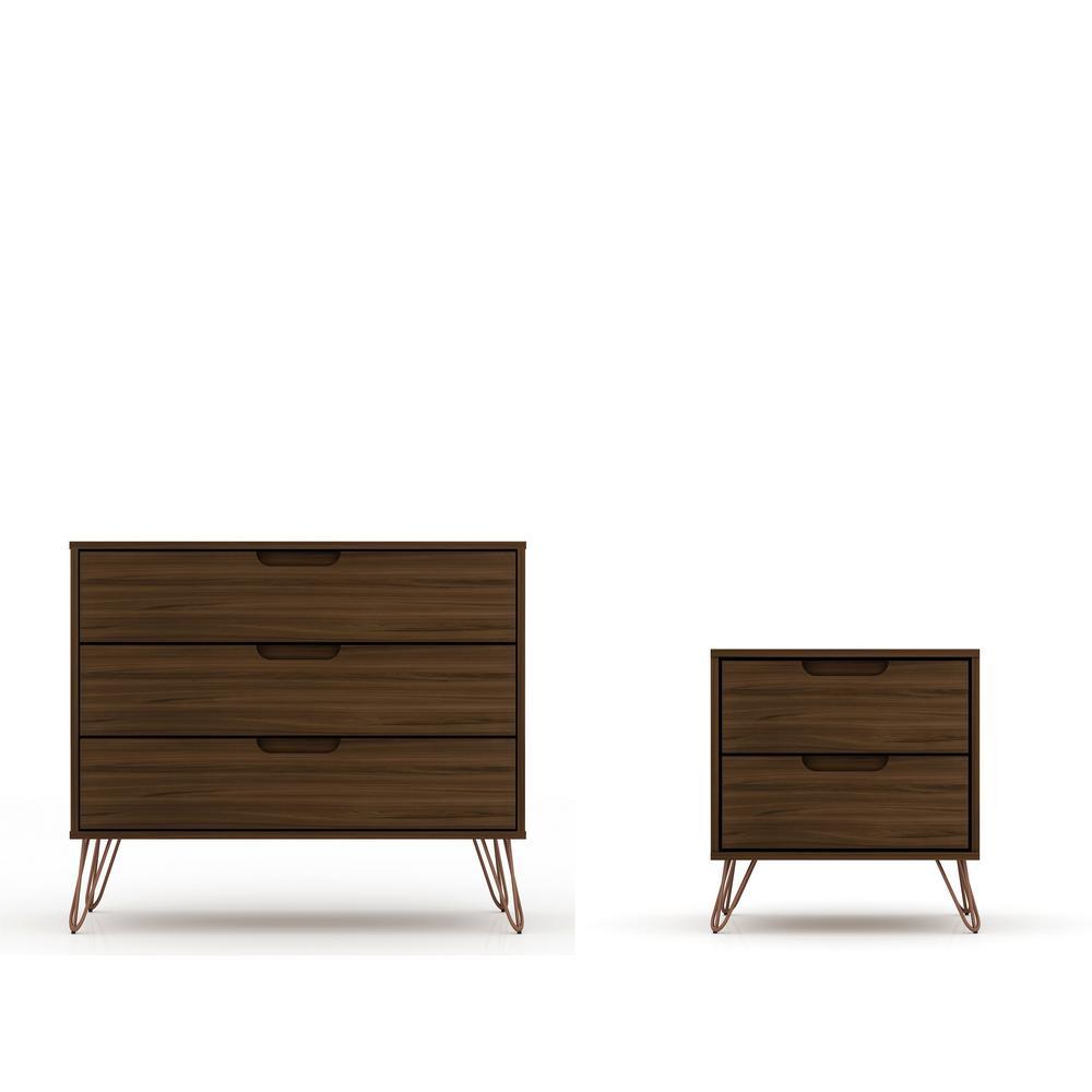 intrepid 5 drawer brown