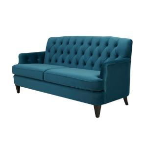 teal sofas full grain leather sofa bed jennifer taylor kelly satin hand tufted 63170 3 867 the 5