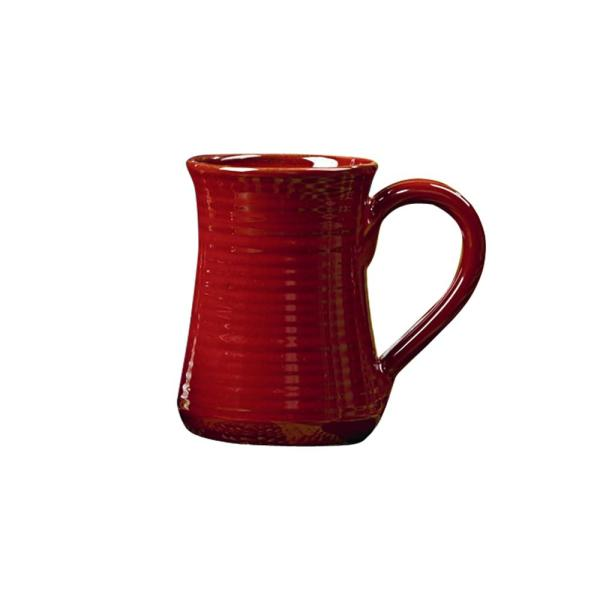 Park Design Aspen 18 Oz. Red Ceramic Coffee Mug Set Of 4