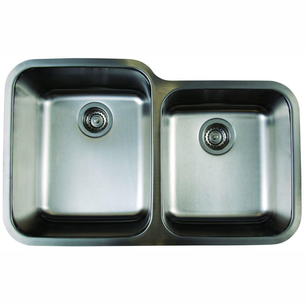blanco kitchen sink mixer stellar undermount stainless steel 32 in 1 3 4 bowl