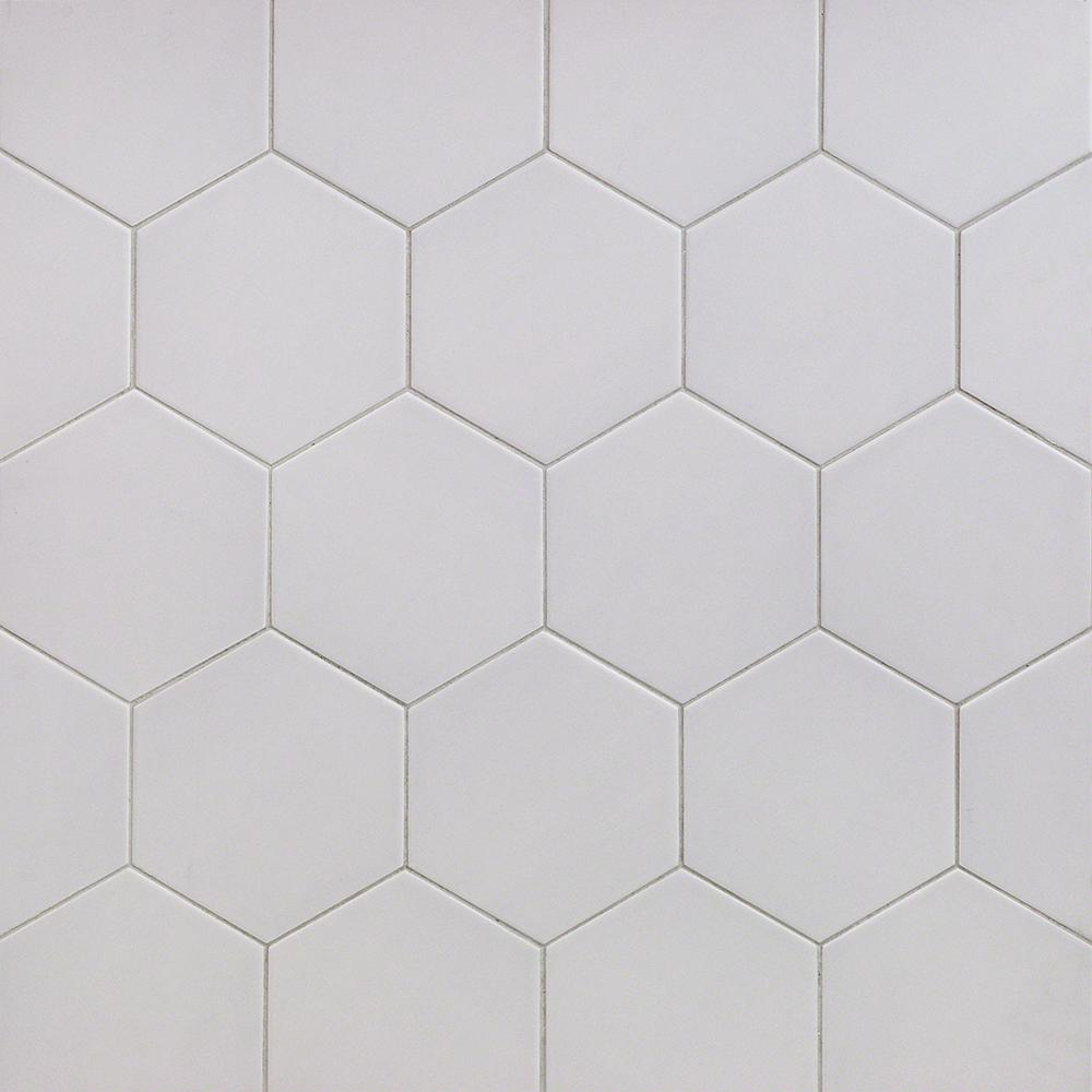 Ivy Hill Tile Bethlehem Hexagon Pearl 5.9 in. x 6.96 in. x