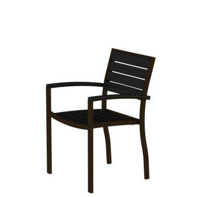 black patio chairs oak dining room set with 6 bronze outdoor the home depot euro textured arm chair slats