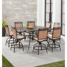 Hanover Fontana 9-piece Aluminum Outdoor Dining Set With 8