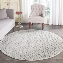 Round Area Rug In Living Room Shaker Beige Safavieh Adirondack Ivory Charcoal 6 Ft X