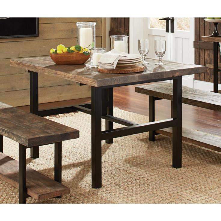 alaterre furniture pomona rustic natural dining table-amba1720 - the