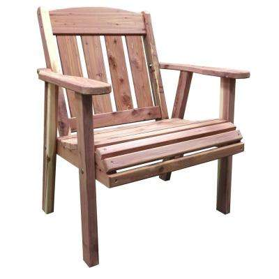 wooden lounge chair wicker back chairs wood amerihome outdoor patio amish unfinished cedar