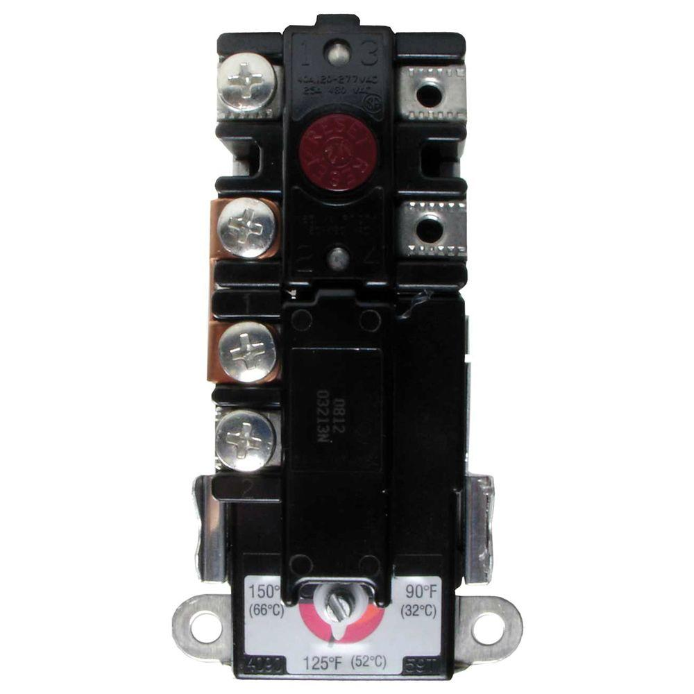 hight resolution of everbilt t o d h hlc single element thermostat for residential water heaters