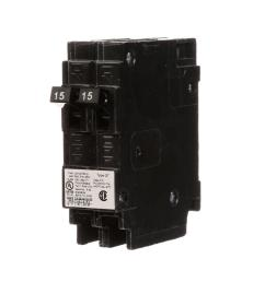 siemens 15 amp tandem single pole type qt circuit breaker [ 1000 x 1000 Pixel ]