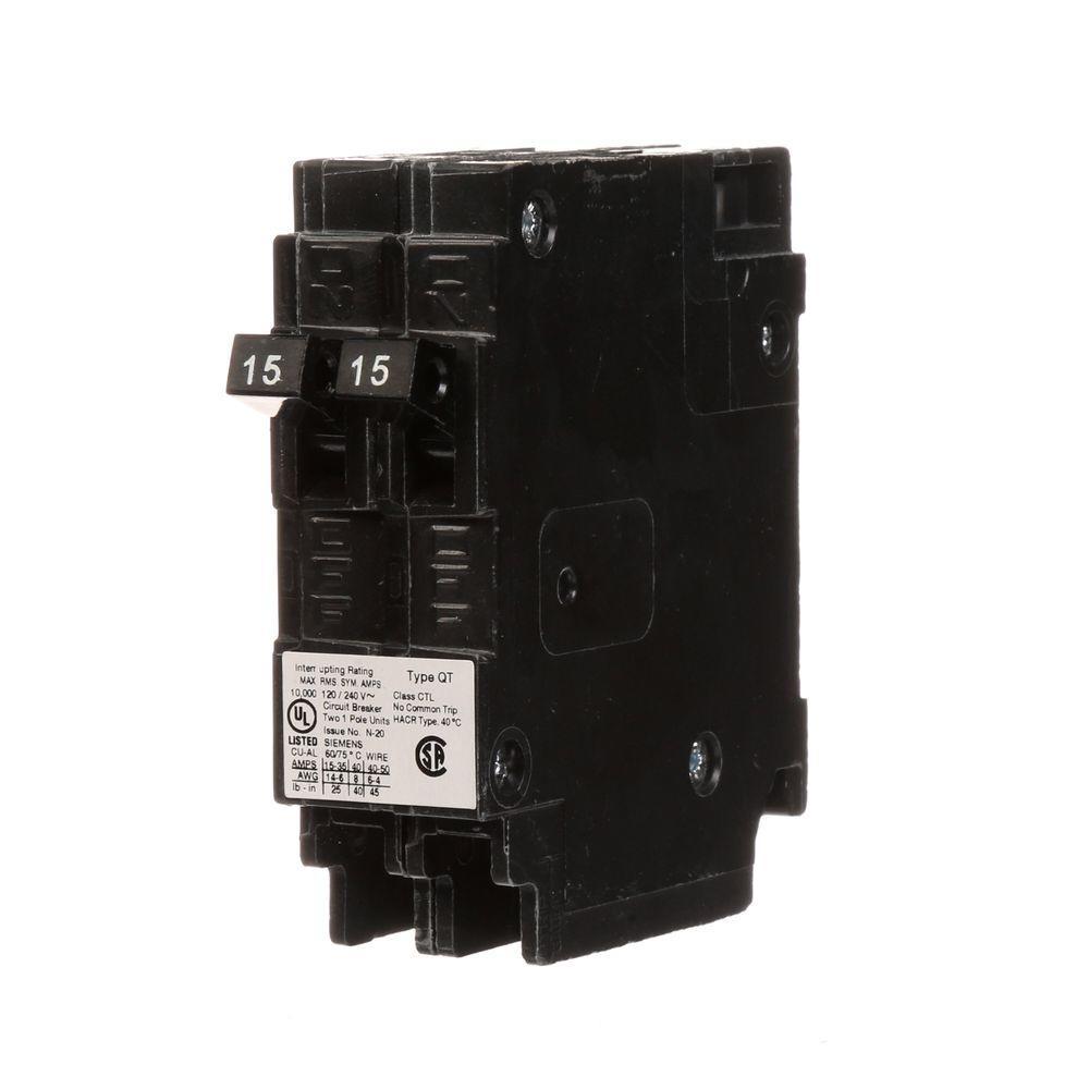 medium resolution of 15 amp tandem single pole type qt circuit breaker