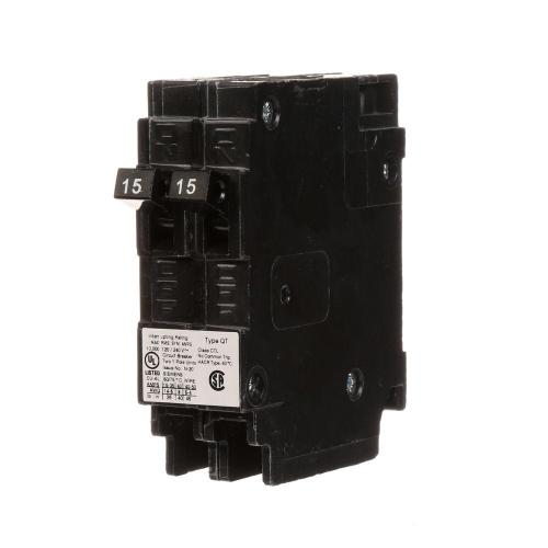 small resolution of 15 amp tandem single pole type qt circuit breaker