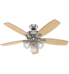led indoor brushed nickel ceiling fan with light kit [ 1000 x 1000 Pixel ]