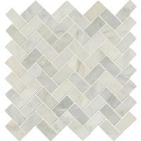 MS International Arabescato Carrara Herringbone Pattern 12 ...