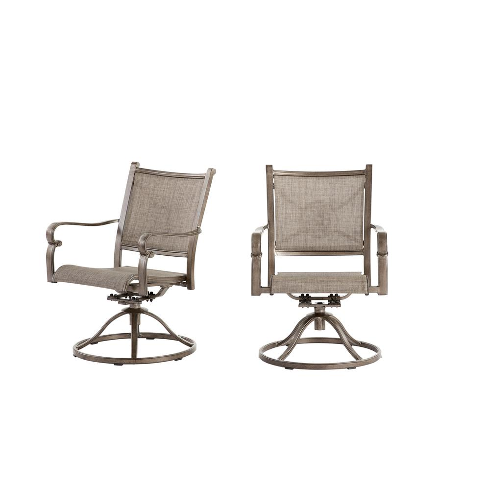 Swivel Rocking Chairs Home Decorators Collection Home Decorators Collection Wilshire Estates Aluminum Sunbrella Sling Swivel Outdoor Dining Rocker Chair 2 Pack