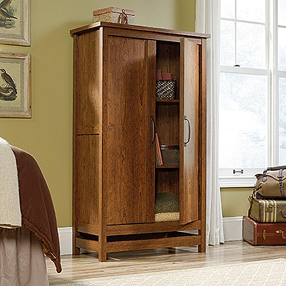 SAUDER Cannery Bridge Milled Cherry Storage Cabinet419151  The Home Depot