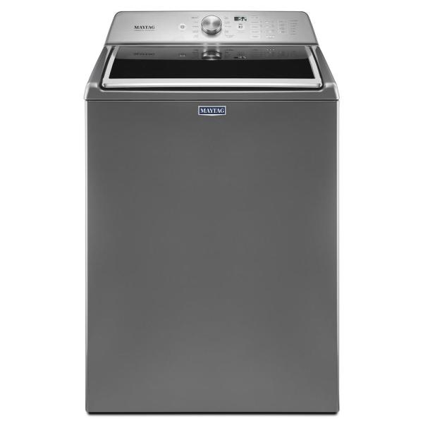 Maytag 4.7 Cu. Ft. High-efficiency Metallic Slate Top Load Washer With Powerwash Cycle-mvwb765fc
