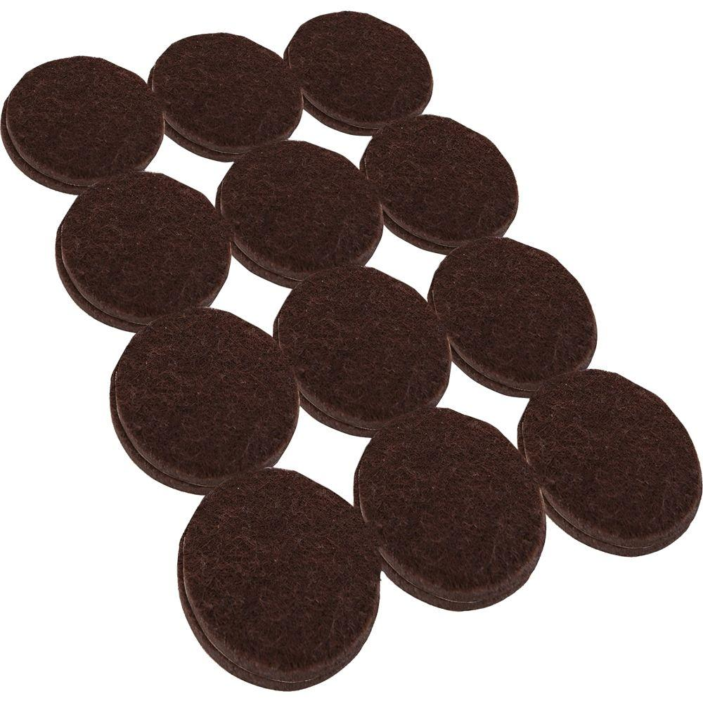 chair felt pads pad covers for sale everbilt 1 2 in heavy duty brown self adhesive 24 per