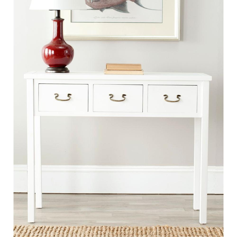 Safavieh Cindy White Storage Console TableAMH6568C  The Home Depot