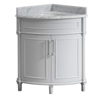 Corner Bathroom Vanities Bath The Home Depot